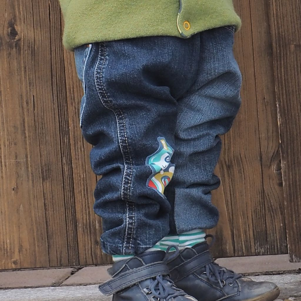 Baby-Pumphose aus alter Jeans